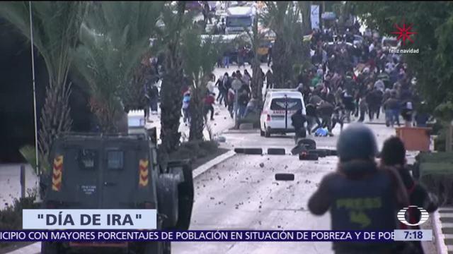 Se desatan protestas en Medio Oriente por decisión de EU sobre Jerusalén
