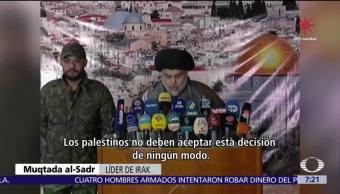 Reacciones internacionales condenan postura de Estados Unidos sobre JerusalénReacciones internacionales condenan postura de Estados Unidos sobre Jerusalén