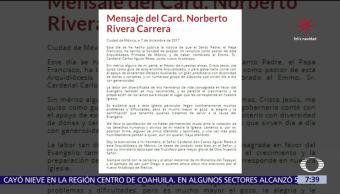 En una carta, Norberto RIvera pide perdón a Dios por sus debilidades