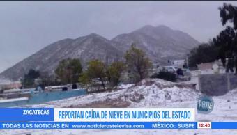 Cae aguanieve en municipios de Zacatecas