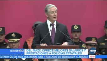 Del Mazo ofrece mejores salarios a policías mexiquenses