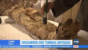 Descubren tumbas en la ciudad de Luxor Egipto