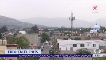 Zacatecas rompe récord de temperaturas bajas