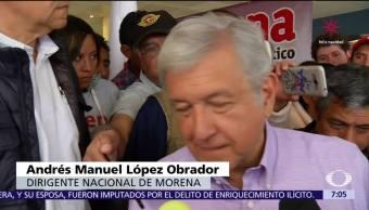 López Obrador señala a sus contrincantes: les falta recorrer el país