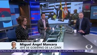 Trabajaré por la consolidación del frente, dice Miguel Ángel Mancera