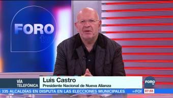 Luis Castro: Nueva Alianza construye una colación con Meade