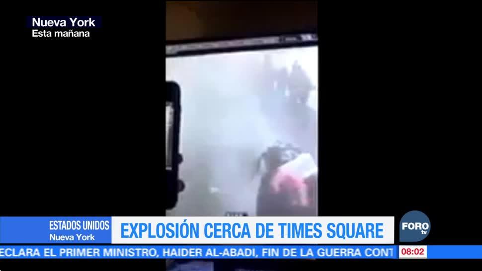 Cámaras de seguridad captan el momento de la explosión en Nueva York