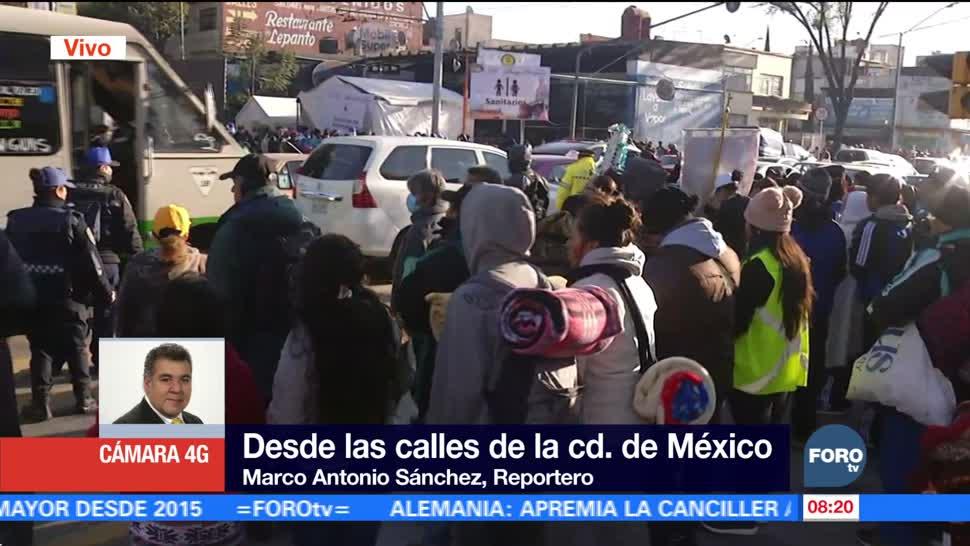 Peregrinos se dirigen a la Basílica de Guadalupe