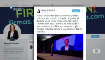 Calderón y Margarita reaccionan ante destape de Anaya