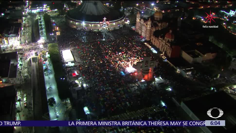 Saldo blanco en la Basílica de Guadalupe