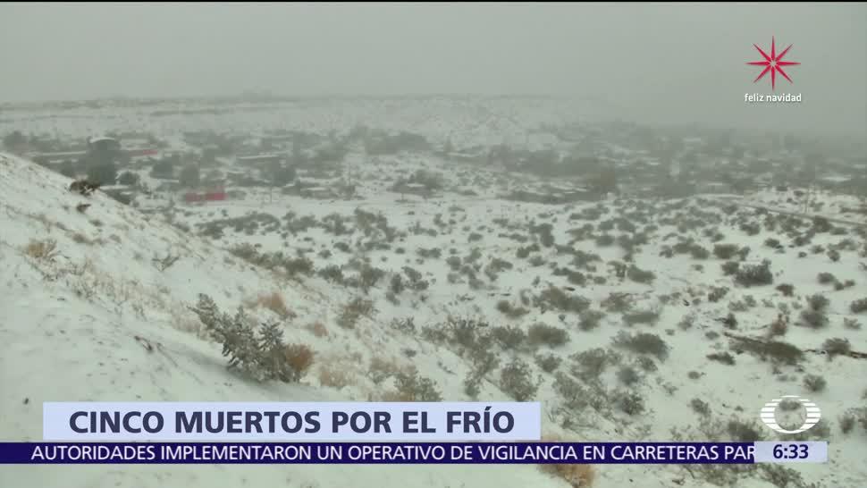 Suman 5 muertos por el frío en México