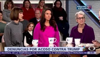 Tres mujeres piden investigar a Donald Trump por acoso sexual
