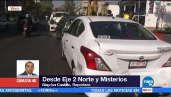Camión de pasajeros provoca choque múltiple cerca de la Basílica de Guadalupe