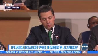 Peña Nieto participa en la Cumbre One Planet, en Francia
