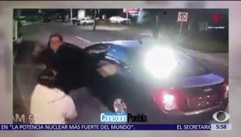Hombre agrede a una guardia de seguridad en fraccionamiento de Puebla