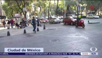 Cierran calles aledañas al Senado en Reforma por manifestaciones