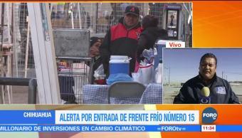 Frente frío 15 provoca bajas temperaturas en Chihuahua