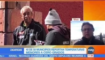 Municipios registran temperaturas menores a cero grados en Zacatecas