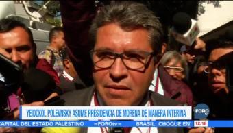 Yeidckol Polevnsky asumirá presidencia nacional de Morena de forma interina