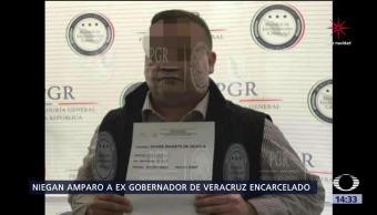 Niegan amparo al exgobernador de Veracruz Javier Duarte