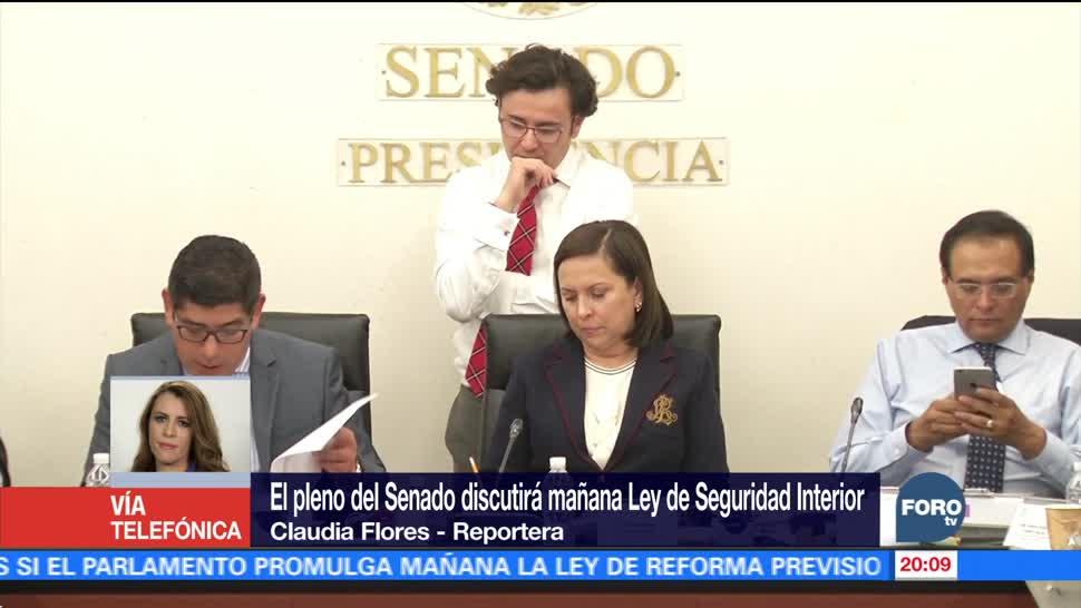 Aprueban en comisiones del Senado la Ley de Seguridad Interior