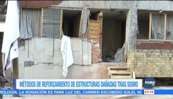 Métodos de reforzamiento en estructuras dañadas por sismos