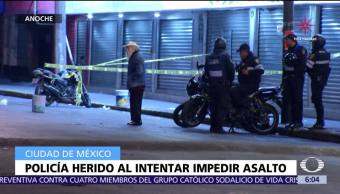 Policía es herido tras evitar robo en tienda de electrodomésticos en CDMX