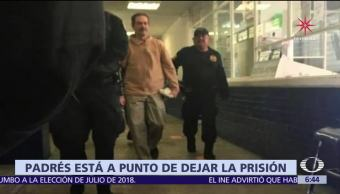 Guillermo Padrés está a punto de salir de la cárcel