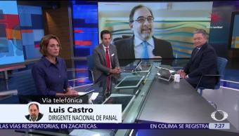 Luis Castro, dirigente de Nueva Alianza, en entrevista para Despierta con Loret