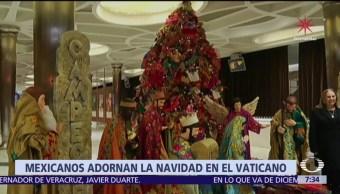 El Vaticano expone adornos navideños de artesanos de Campeche