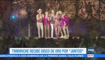 #LoEspectaculardeME: Timbiriche recibe disco de oro por 'Juntos'