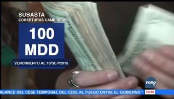 Banxico asigna 100 millones de dólares para coberturas cambiarias