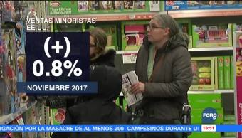 Suben las ventas minoristas en Estados Unidos