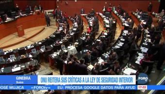 ONU reitera llamado de rechazo a la Ley de Seguridad Interior