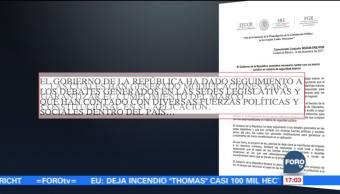 Gobierno de la República considera necesaria la Ley de Seguridad Interior