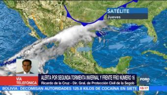 Recomendaciones de Segob ante segunda tormenta invernal y frente frío 16