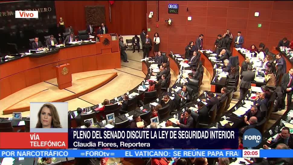 Continúa debate de la Ley de Seguridad Interior en el Senado