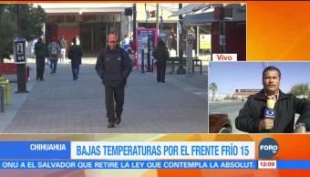 Bajas temperaturas por el frente frío 15 en Chihuahua