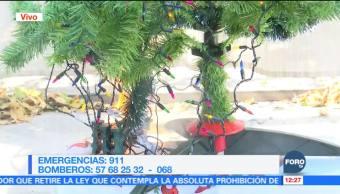 Bomberos muestran el peligro de luces navideñas de dudosa calidad