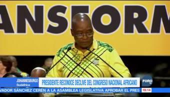 Jacob Zuma se despide como líder del Congreso Nacional Africano