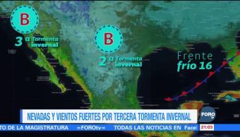 Tercera tormenta invernal mantendrá bajas temperaturas en el país