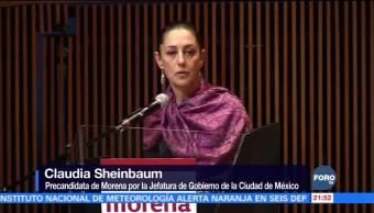 Sheinbaum estuvo en un Centro Cultural de la Ciudad de México