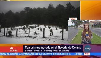 Cae la primera nevada de la temporada en Colima