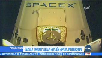 Llega a la Estación Espacial Internacional la cápsula 'Dragon'
