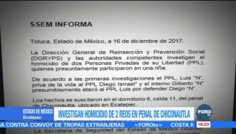Riña en penal de Chiconautla deja dos internos muertos