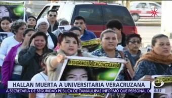 Encuentran muerta a estudiante universitaria en Veracruz