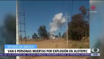 Suman 6 muertos por explosión de polvorines en Jilotepec, Edomex