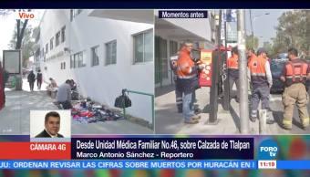 Se registra fuga de gas en clínica 46 del IMSS, en Tlalpan