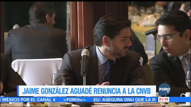 Jaime González Aguadé renuncia a la CNVB