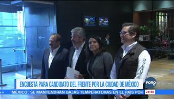 """Encuesta, método para elegir candidato del """"Frente por la Ciudad de México"""""""